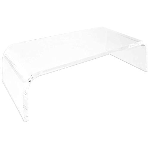 VANOLU Acrylic Display Stand with Sturdy Platform, Laptop/PC/Multimedia Display Stand, Suitable for Home Office