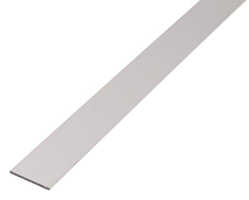 GAH-Alberts 473013 Flachstange | Aluminium, silberfarbig eloxiert | 1000 x 15 x 2 mm