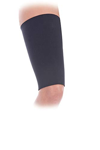 FitPro Compression Thigh Support Sleeve, Medium, Amazon Exclusive Brand, Black