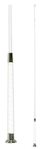 HKM 4307 Reitgerte Lack Fashion, Gerte Dressur Peitsche Dressurgerte, weiß, 110 cm