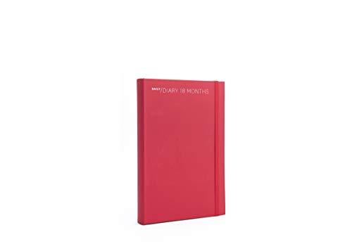 Agenda settimanale 18 mesi 2021 colore rosso cm 15 x 21