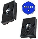 new arrival Quick Release Plate for the RC2 Rapid discount Connect wholesale Adapter (SET OF 2) for MANFROTTO 327RC2 outlet sale