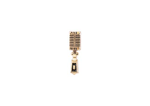 Knighthood Microfoon DJ Muziek Lapel Pin Pak Kraag Broche voor Unisex