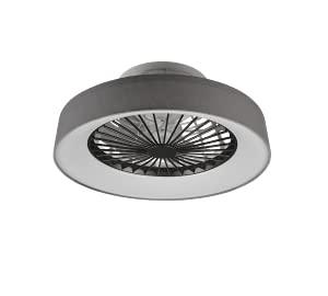 Ventilatore da Soffitto Innovativo Plafoniera Moderna Illuminazione LED Diffusore Satinato Tessuto Grigio...