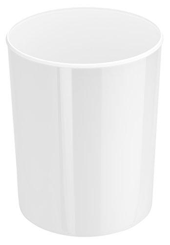 HAN Design-Papierkorb i-Line – eleganter, hochglänzender und stylischer Papierkorb für das moderne Büro. 20 Liter Volumen, weiß, 18200-12