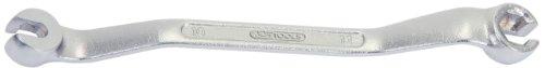 KS Tools 517.0270 CHROMEplus Offener Doppel-Ringschlüssel, gekröpft, 10x11mm