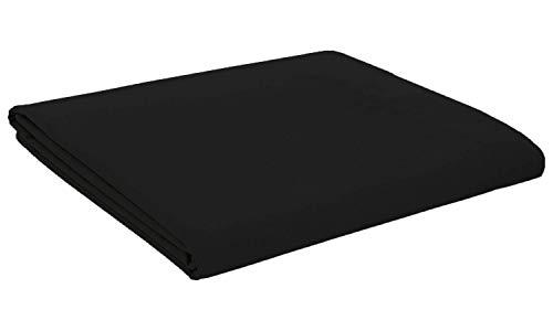 Divine textiles®–Sábana de cama de percal, de muy fácil planchado y fácil cuidado., algodón poliéster, negro, suelto