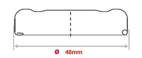 Colore: Bianco Tappo per Bottiglie di Latte Twist-off TO48 mm AE-GLAS 10-75 Vetro 10 Pezzi