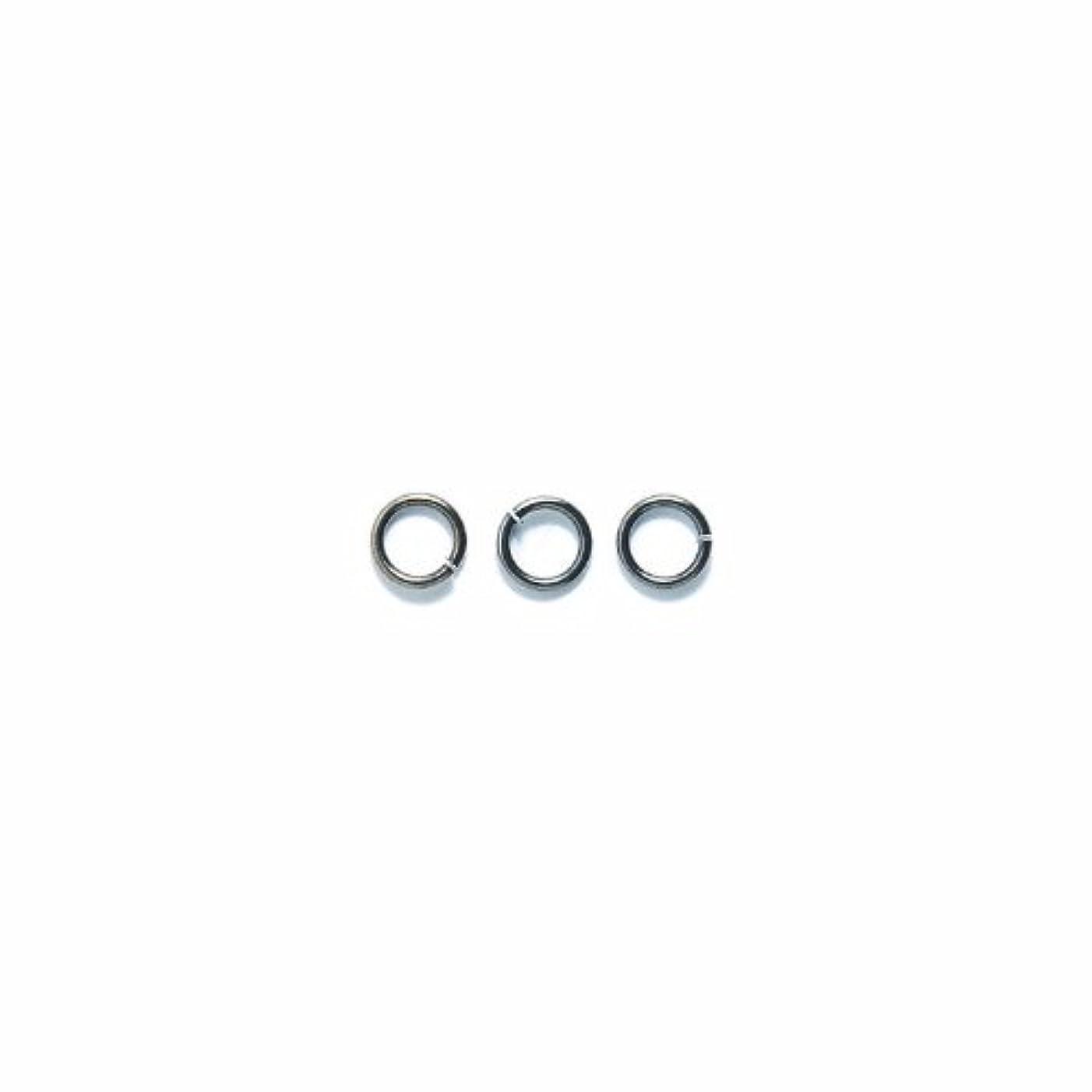 Shipwreck Beads Plated Brass Jump Ring, 6 mm, 18-Gauge, Metallic, Gunmetal, 50 gm Pack
