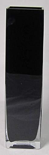 INNA-Glas Bodenvase Leon, Quader - viereckig, schwarz, 10x10x40cm - Eckige Vase - Deko Vase