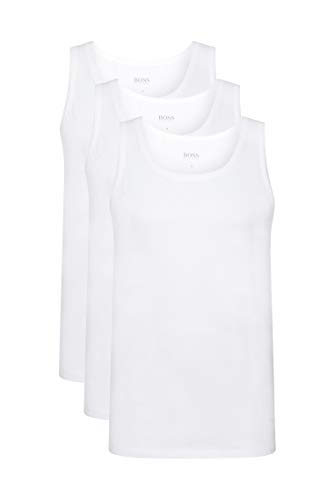 BOSS Tank 3p Co Top de deporte, Blanco (White 100), Medium...