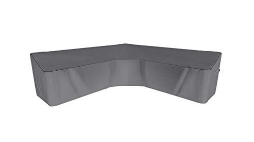 SORARA Housse de Protection Hydrofuge pour Canapé d'angle | Gris | 300 x 300 x 90 x 60/90 cm
