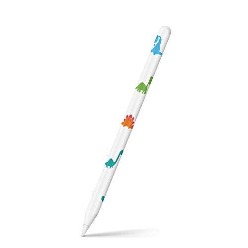 igsticker Apple Pencil 第2世代 専用スキンシール アップル ペンシル対応 シール ステッカー アクセサリー 恐竜 こども カラフル 009985