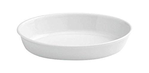 Tognana 37 x 24 x 7 cm-PL-Cook Plat de Cuisson Ovale, Blanc