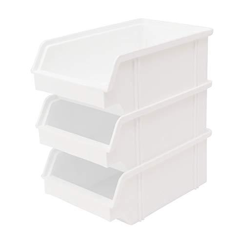 Lantelme 3936 Bandeja para almacenaje (10 unidades, plástico), color blanco
