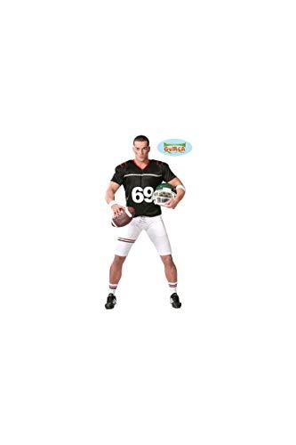 Costume fottball americano bianco e nero uomo M (48-50)