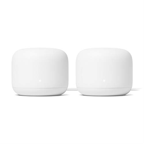 Google Nest WiFi Router 2 Pack (2nd Generation) – 4x4 AC2200 Mesh Wi-Fi Routers