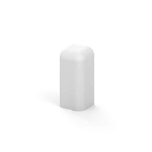 Habengut Endkappe Ausführung rechts für Sockelleiste 50 mm aus PVC, Farbe: Weiß | Inhalt: 1 Stück - für einen sauberen Abschluss