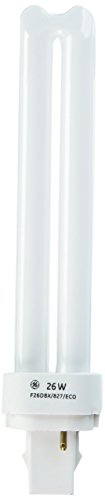 GE Lighting 97606 CFL 26W Plug In 2 Pin Double Biax Compact Fluorescent Replacement Bulb