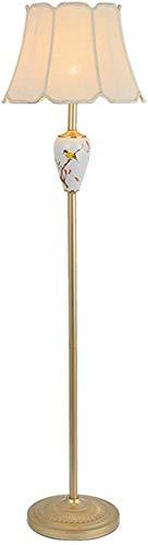 YZ-YUAN Lámparas Decorativas Lámpara de pie de Campo Americano Sala de Estar Sencilla Dormitorio de Estudio Decoración Europea Lámpara de pie de cerámica Luz de pie (Color: 40 cm de Ancho y 152 cm d
