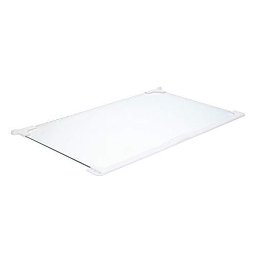 Glasplatte Scheibe Abdeckplatte Absteller Glasboden 460x280 mit Leiste Kühlschrank ORIGINAL IGNIS Bauknecht 482000097600