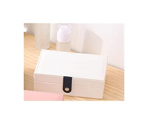 HRTJRS Caja Joyero Pantalla de joyería Universal de Cuero Mostrar Recorrido Joyería Caja Cajas de joyería portátil Botón Botón de Almacenamiento de Cuero Cofres (Color : C)