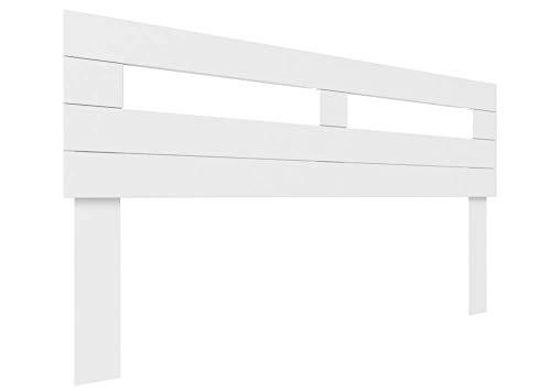 LA WEB DEL COLCHON - Cabecero de Madera Rústico Toscana para Cama de 150 (160 x 90 cms.) Blanco nórdico   Cabeceros Madera   Dormitorio Matrimonio   Cabezal Cama  Estilo nórdico