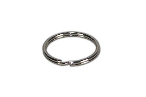 Tia-Ve Lot de 100 anneaux de porte-clés en acier nickelé durci de fabrication allemande