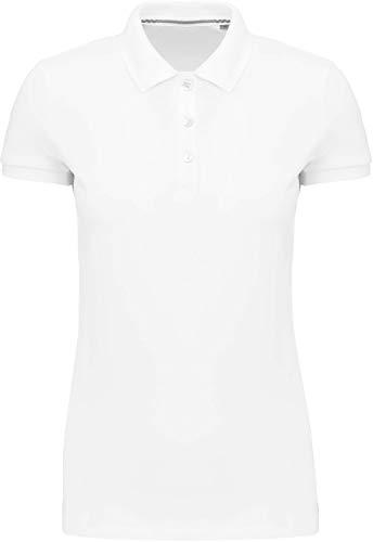 Kariban Polo Supima® Manches Courtes Femme - Blanc, XXL, Femme