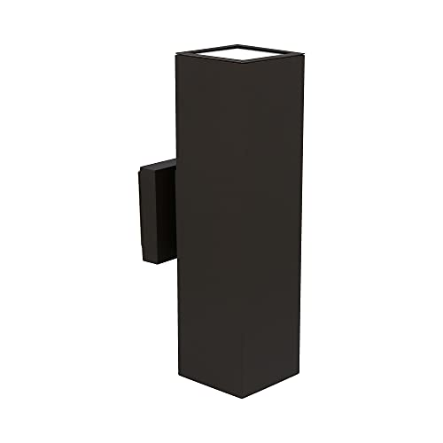 Luminance F6892-31 Modern Outdoor Light for Home Exterior | Aluminum Wall Sconce | Weather Resistant for Outside of House, Porch, Garage, or Patio | Wet Rated, 15 x 4.375 inches, Black