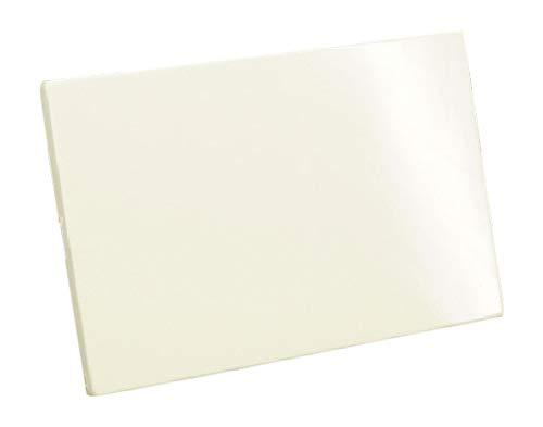 Placca in resina cieca bianca