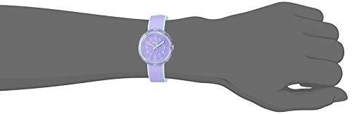 Flik Flak Kids' Color Blast Quartz Polyester Strap, Purple, 14 Casual Watch (Model: ZFPNP044)