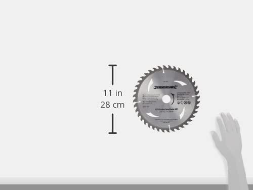 Silverline 991704 Hartmetall-Kreissägeblätter mit 40 und 60 Zähnen, 2er-Pckg 250 x 30, Reduzierstücke: 25, 20 u. 16 mm - 4