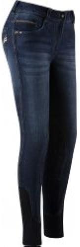 EQUITHEME Pantalon Jean's Texas - Femme - Couleurs - Blanc, Taille Culottes - 38