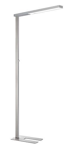 Unilux STRATUS Stehlampe, dimmbar mit direkter, indirekter Beleuchtung, flacher Standfuß, für Büro und Arbeitsplatz