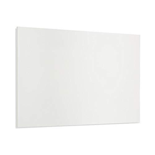 Klarstein Wonderwall Air Infinite - Infrarotheizung Elektroheizung Heizpanel, rahmenlos, geräuschlos, Wandaufhängung, OpenWindow Detection, für Allergiker, Thermostat, 90 x 60 cm, 580 W, weiß