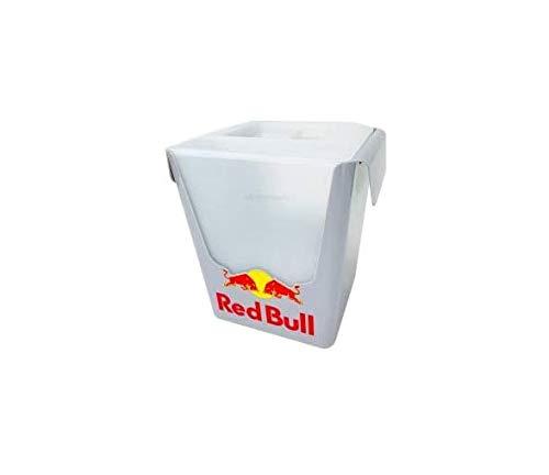 Red Bull Eisbox aus Kunststoff mit herausnehmbarem Tropfeinsatz und Deckel - 23,5x24,5cm Bar Eiskübel Flaschenkühler EIS Box Kühlbox