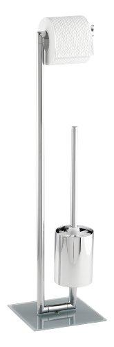 Wenko 17773100 Juego de pie para el WC Style, Acero, 19 x 73 x 19 cm, Cromo