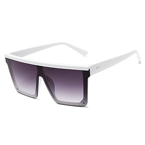 NBJSL Gafas de sol Vintage para hombre, gafas de sol cuadradas negras con degradado UV400 para hombre, caja de embalaje exquisita