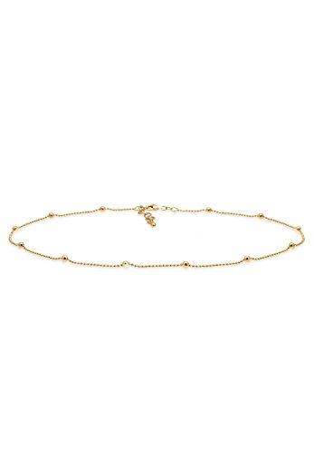 Elli Women Choker Ball Geo 925 Silver Gold Plated Necklace of Length 36cm 0103471617_36