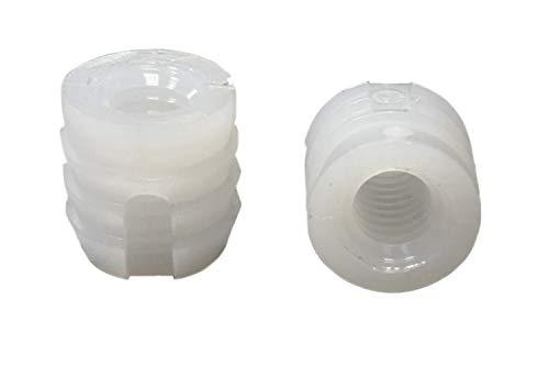 Kunststoff weiß Polyamid M8 10x12 mm - 12 St. - Einleimmuffen Einschlagschrauben