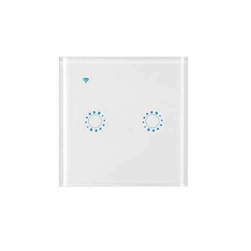 Wifi lichtschakelaar, smart lichtschakelaar voor Alexa en smartphone, touchscreen-schakelaar, spraakbediening, overbelastingsbeveiliging, draadloze wandschakelaar