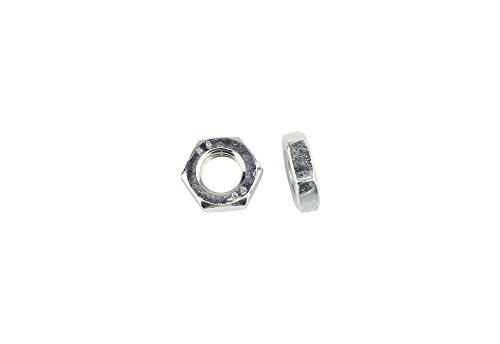 100 Stk DIN 439 Sechskantmuttern flach M8 - Stahl verzinkt - Festigkeit 8