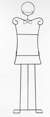 Appendiabiti servomuto a forma di uomo omino lui in metallo laccato nero HL-57881 della maiuguali