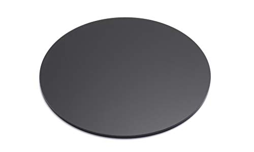 """Marketing Holders 12"""" Round Disc DIY Black Acrylic 1/4' Thick.220 or .236 6MM Lucite Circle Table Top Art Project Portable Lightweight Backsplash Wall Panel Home Decor Shelving Professional Strong"""