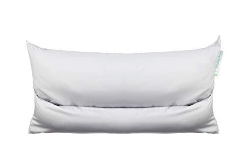 mySheepi Kissenbezug Home - Kopfkissen-Bezug Aus 100% Baumwolle Für Nackenstützkissen - Hellgrau, 80 x 40 cm