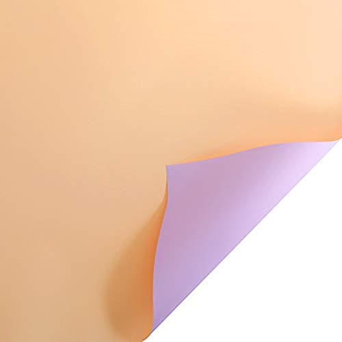 20 Blatt 58 cm einfaches, wasserdichtes, doppelseitiges Blumen-Geschenkpapier, Floristenstrauß-Verpackung zum Verpacken von frischen Blumen, Geschenk-Box-Verpackung (Champagner & Lila)