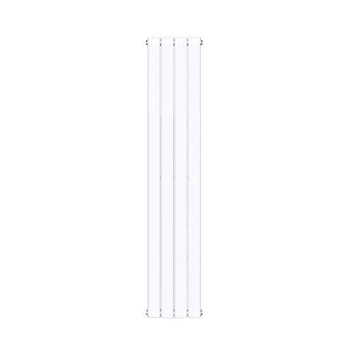 doporro Design Badheizung 160x31cm Weiß Paneelheizkörper Einlagig Vertikal Mittelanschluss Bad-Heizkörper