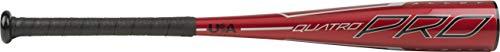 Rawlings 2020 Quatro Pro USA Youth Tball Bat, 25 inch (-11), Red, Gold, Black
