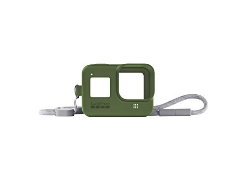 Turtle AJSST-005 Green Guaina + Cordino per Hero8 Black (Accessorio Gopro Ufficiale) Verde